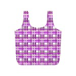 Purple plaid pattern Full Print Recycle Bags (S)