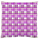 Purple plaid pattern Large Flano Cushion Case (Two Sides)