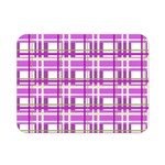 Purple plaid pattern Double Sided Flano Blanket (Mini)