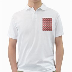 Red plaid pattern Golf Shirts from ArtsNow.com Front