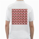 Red plaid pattern Golf Shirts from ArtsNow.com Back