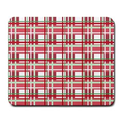 Red plaid pattern Large Mousepads from ArtsNow.com Front