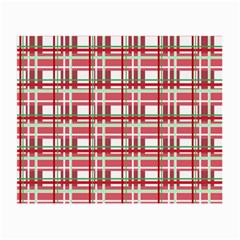 Red plaid pattern Small Glasses Cloth from ArtsNow.com Front