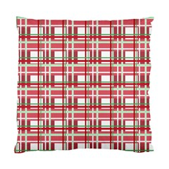 Red plaid pattern Standard Cushion Case (One Side) from ArtsNow.com Front
