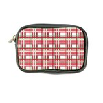 Red plaid pattern Coin Purse from ArtsNow.com Front