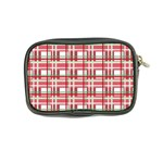 Red plaid pattern Coin Purse from ArtsNow.com Back