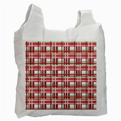 Red plaid pattern Recycle Bag (Two Side)  from ArtsNow.com Front