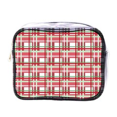Red plaid pattern Mini Toiletries Bags from ArtsNow.com Front