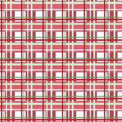 Red plaid pattern Magic Photo Cubes from ArtsNow.com Side 1