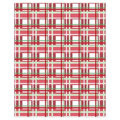 Red plaid pattern Drawstring Pouches (Extra Large) from ArtsNow.com Front