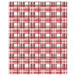 Red plaid pattern Drawstring Pouches (Extra Large) from ArtsNow.com Back
