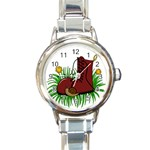 Boot in the grass Round Italian Charm Watch
