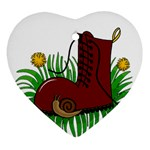 Boot in the grass Ornament (Heart)