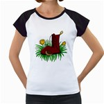 Boot in the grass Women s Cap Sleeve T