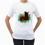 Boot in the grass Women s T-Shirt (White) (Two Sided)