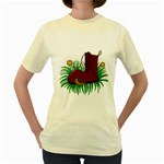 Boot in the grass Women s Yellow T-Shirt
