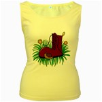 Boot in the grass Women s Yellow Tank Top