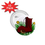 Boot in the grass 1.75  Buttons (10 pack)