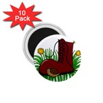 Boot in the grass 1.75  Magnets (10 pack)