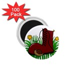 Boot in the grass 1.75  Magnets (100 pack)