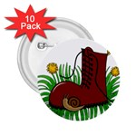 Boot in the grass 2.25  Buttons (10 pack)