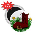 Boot in the grass 2.25  Magnets (10 pack)