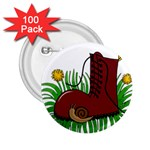Boot in the grass 2.25  Buttons (100 pack)