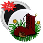Boot in the grass 3  Magnets (10 pack)