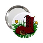 Boot in the grass 2.25  Handbag Mirrors