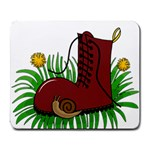 Boot in the grass Large Mousepads
