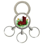 Boot in the grass 3-Ring Key Chains