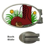 Boot in the grass Money Clips (Oval)