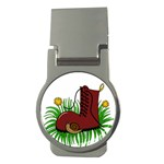 Boot in the grass Money Clips (Round)