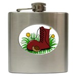 Boot in the grass Hip Flask (6 oz)