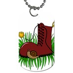 Boot in the grass Dog Tag (Two Sides)