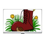 Boot in the grass Business Card Holders