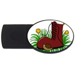 Boot in the grass USB Flash Drive Oval (2 GB)