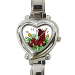 Boot in the grass Heart Italian Charm Watch