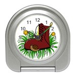 Boot in the grass Travel Alarm Clocks
