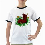 Boot in the grass Ringer T-Shirts