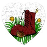 Boot in the grass Jigsaw Puzzle (Heart)
