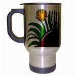 Boot in the grass Travel Mug (Silver Gray)