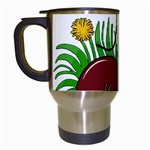 Boot in the grass Travel Mugs (White)