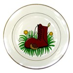 Boot in the grass Porcelain Plates