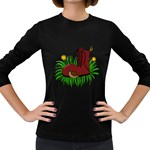 Boot in the grass Women s Long Sleeve Dark T-Shirts