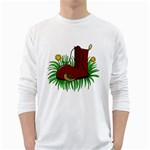 Boot in the grass White Long Sleeve T-Shirts