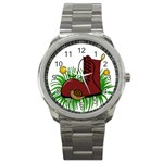 Boot in the grass Sport Metal Watch