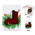 Boot in the grass Playing Card