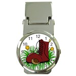 Boot in the grass Money Clip Watches