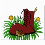 Boot in the grass Mini Button Earrings